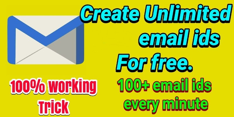 Instant Email Address - CREATE UNLIMITED EMAIL ID 2021