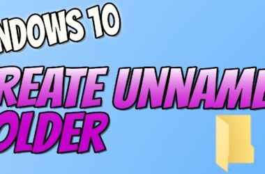 HOW TO CREATE A UNNAMED FOLDER IN PC OR LAPTOP 2021