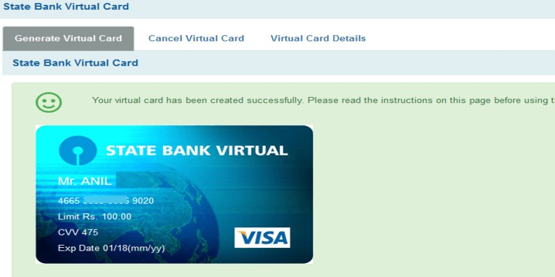 HOW TO MAKE VERTUAL CARD ON SBI INTERNET BANKING 2021