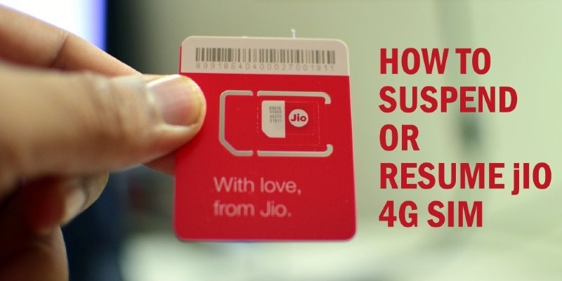 How to Suspend or Resume Reliance Jio Sim Card 2021