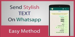 How To Send Stylish Text On Whatsapp / Facebook Messenger 2021