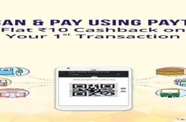 Paytm Scan And Pay: Get Rs.10 Cashback on 1st Transaction 2021