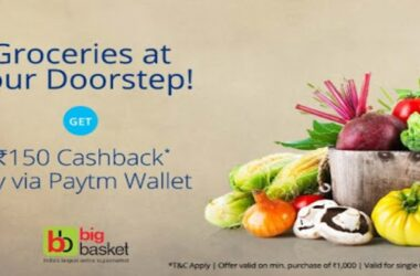 Bigbasket Paytm Offer: Get Flat 150 Cashback when You Pay Using Paytm Wallet 2021