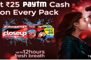 Paytm Closeup Offer: Rs.25 Free Paytm Cash on Every Pack 2021