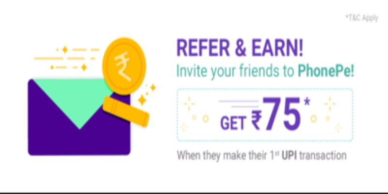 PhonePe Refer Earn Offer: Get Rs.75 on Signup + Rs.75/Referral 2021