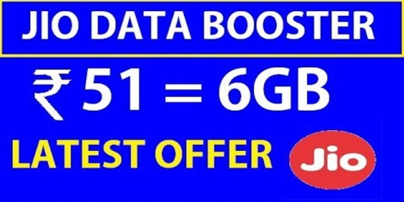 Jio Data Booster Recharge: Get 6GB Data Only at Rs 51 (2021)