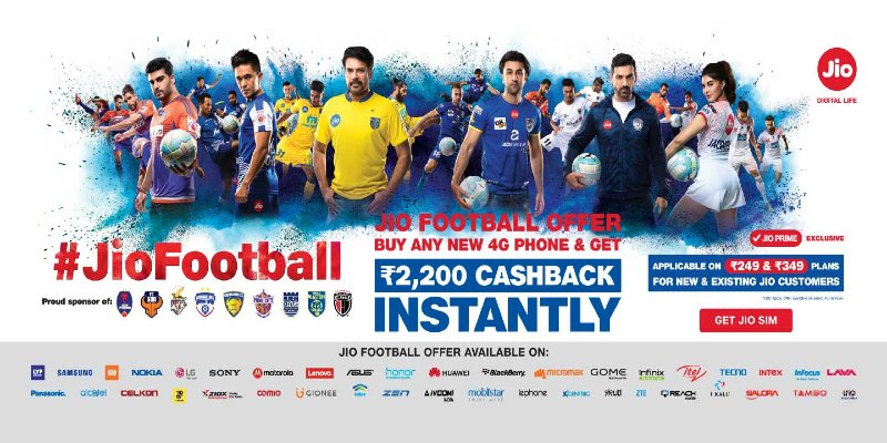 Jio Football Offer: Get Rs.2200 as Cashback, Eligible Devices List 2021